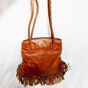 EAST WEST leather hobo tote purse bag